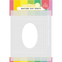 Waffle Flower Crafts - Hope Collection - Stencils - Spotlight Oval