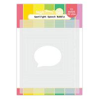 Waffle Flower Crafts - Stencils - Spotlight Speech Bubble