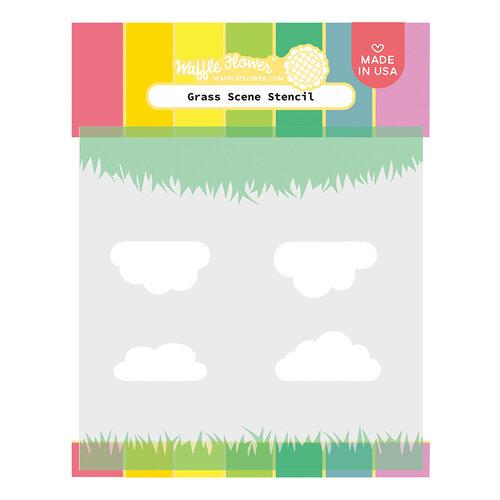 Waffle Flower Crafts - Stencils - Keeway's Grass Scene