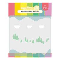 Waffle Flower Crafts - Stencils - Keeway's Mountain Scene