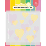 Waffle Flower Crafts - Hearts and Roses Collection - Stencils - Heart Balloons