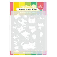 Waffle Flower Crafts - Stencils - Birthday Kitties