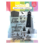 Waffle Flower Crafts - Hope Collection - Stencil-n-Stamp - Lighthouse