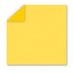 WorldWin - DoubleMates - 12 x 12 Cardstock Pack - 50 Sheets - Sunshine Yellow, CLEARANCE