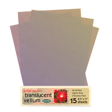 WorldWin - 8.5 x 11 Metallic Translucent Vellum - Iris, CLEARANCE
