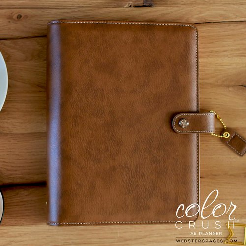 Websters Pages - Color Crush Collection - A5 Planner - Walnut