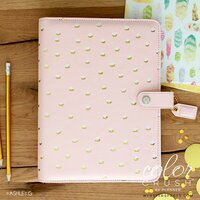 Websters Pages - Color Crush Collection - A5 Planner - Blush and Gold Foil Dot