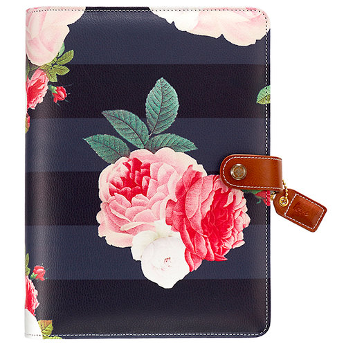 Websters Pages - Color Crush Collection - A5 Planner Binder - Black Floral - Binder Only