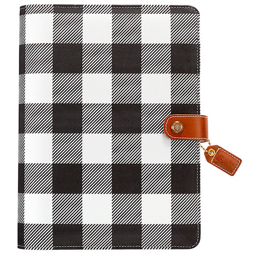 Websters Pages - Color Crush Collection - A5 Planner Binder - Buffalo Plaid - Binder Only