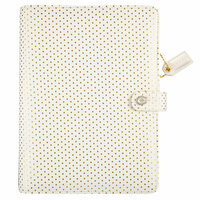 Websters Pages - Color Crush Collection - A5 Planner Binder - Embossed Gold Dot