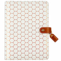 Websters Pages - Color Crush Collection - A5 Planner Binder - Copper Hexagon - Binder Only