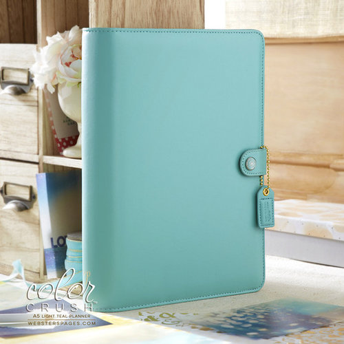 Websters Pages - Color Crush Collection - A5 Planner Binder - Light Teal