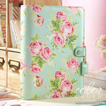 Websters Pages - Color Crush Collection - A5 Planner Binder - Mint Floral