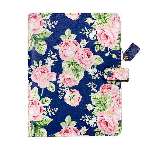 Websters Pages - Color Crush Collection - A5 Planner Binder - Navy Floral