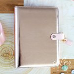 Websters Pages - Color Crush Collection - A5 Planner - Platinum Rose