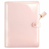 Websters Pages - Color Crush Collection - A5 Planner Binder - Patent Leather Petal Pink