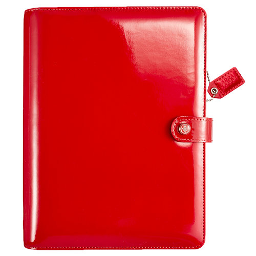 Websters Pages - Color Crush Collection - A5 Planner Binder - Patent Leather Red