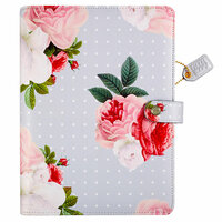Websters Pages - Color Crush Collection - A5 Planner Binder - Grey Floral
