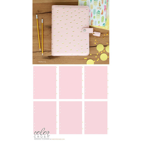 Websters Pages - Color Crush Collection - A5 Planner Kit - Blush and Gold Foil Dot - Jan. 2016 to Dec. 2016
