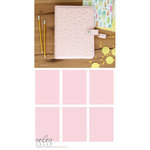 Websters Pages - Color Crush Collection - A5 Planner Kit - Blush and Gold Foil Dot
