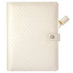Websters Pages - Color Crush Collection - A5 Planner Kit - White Diamond Stitching - Undated