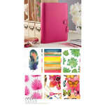 Websters Pages - Color Crush Collection - A5 Planner Kit - Fuchsia - Undated