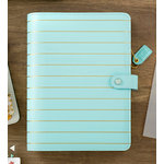 Websters Pages - Color Crush Collection - A5 Planner Kit - Ice Blue with Gold Stripe