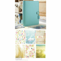 Websters Pages - Color Crush Collection - A5 Planner Kit - Light Teal - Oct. 2015 to Dec. 2016