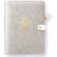 Websters Pages - Color Crush Collection - A5 Planner Kit - Live Your Best Life - Grey - Undated