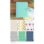 Websters Pages - Color Crush Collection - A5 Planner Kit - Mint - Jan. 2016 to Dec. 2016
