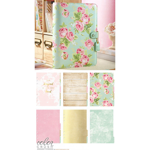 Websters Pages - Color Crush Collection - A5 Planner Kit - Mint Floral - Undated