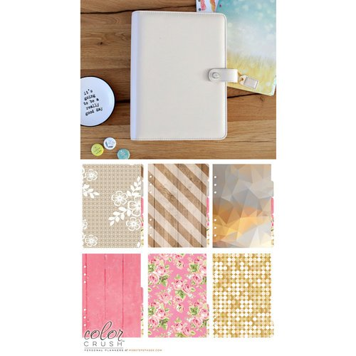 Websters Pages - Color Crush Collection - A5 Planner Kit - Natural - Jan. 2016 to Dec. 2016