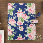 Websters Pages - Color Crush Collection - A5 Planner Kit - Navy Floral - Undated