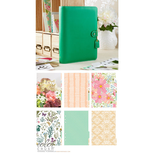 Websters Pages - Color Crush Collection - A5 Planner Kit - Summer Green - Undated