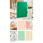 Websters Pages - Color Crush Collection - A5 Planner Kit - Summer Green