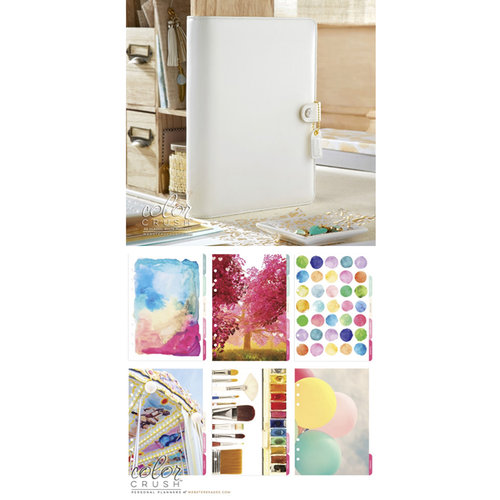 Websters Pages - Color Crush Collection - A5 Planner Kit - White - Oct. 2015 to Dec. 2016