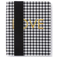 Websters Pages - Color Crush Collection - A5 Traveler's Notebook - Black Check - Binder only