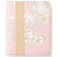 Websters Pages - Color Crush Collection - A5 Traveler's Notebook - Pink Floral - Binder only