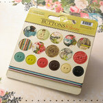 Websters Pages - Ladies and Gents Collection - Chipboard Stickers - Buttons and Twine