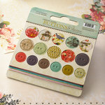 Websters Pages - Country Estate Collection - Chipboard Stickers - Buttons and Twine