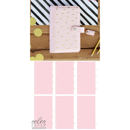 Websters Pages - Color Crush Collection - Personal Planner Kit - Blush and Gold Foil Dot - Undated