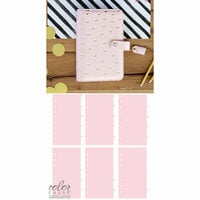 Websters Pages - Color Crush Collection - Personal Planner Kit - Blush and Gold Foil Dot