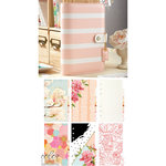 Websters Pages - Color Crush Collection - Personal Planner Kit - Blush Stripe - Undated