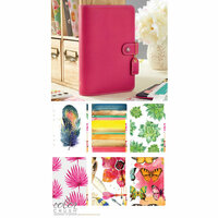 Websters Pages - Color Crush Collection - Personal Planner Kit - Fuchsia - Undated
