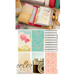 Websters Pages - Color Crush Collection - Personal Planner Kit - Gold