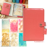 Websters Pages - Color Crush Collection - Personal Planner Kit - Light Pink