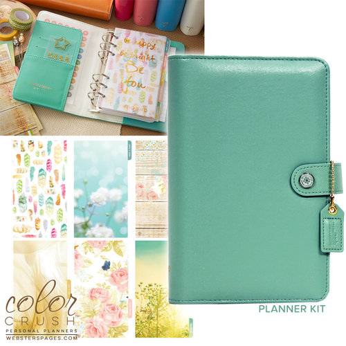 Websters Pages - Color Crush Collection - Personal Planner Kit - Light Teal
