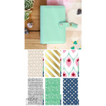 Websters Pages - Color Crush Collection - Personal Planner Kit - Mint - Undated