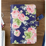 Websters Pages - Color Crush Collection - Personal Planner Kit - Navy Floral - Undated