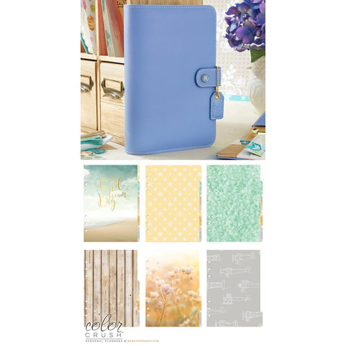 Websters Pages - Color Crush Collection - Personal Planner Kit - Periwinkle - Undated